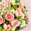 Bouquet of pink roses flowers — Stock Photo