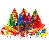 красочные партии, карнавал, день рождения, новый год украшения — Стоковое фото