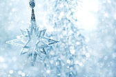 Christmas Decor silver bright — Stock Photo