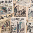 Antique french fashion magazine La Mode Illustree from 1919 — Stok fotoğraf
