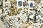 Antique french and german collectible goods — 图库照片