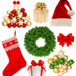 Christmas collection isolated on white background — Stockfoto
