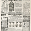 Newspaper page with antique advertisement paris ca. 1919 — Stock Photo #36320339