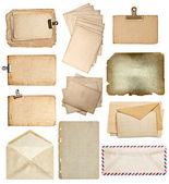 Set of various old paper sheets, cards, envelopes — Zdjęcie stockowe