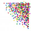 Colorful star shaped confetti. holidays background — Stock Photo