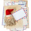Vintage air mail envelopes, Santa Claus post — Stock Photo