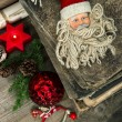 Vintage christmas decoration with antique toys — Stock Photo #37005173