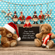 Nostalgic home christmas decoration with antique toys — Stock Photo