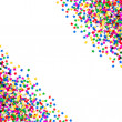 Colorful star shaped confetti. holidays background — Foto Stock