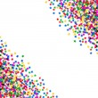 Colorful star shaped confetti. holidays background — Stock fotografie