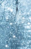 Bleu étoile brillante. décoration de noël ou du nouvel an — Photo