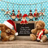 Nostalgic home christmas decoration with antique toys — Foto de Stock