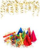 花环,流光,五彩纸屑。嘉年华的生日派对 — 图库照片