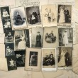 Old handwritten letters and antique family photos — Stock Photo