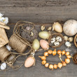Vintage decoration with eggs and flower bulbs — Stock Photo #40801703