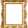 Vintage golden picture frame — Stock Photo