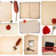 Paper sheets for love letters. vintage book pages — Stock Photo