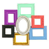 Frames for photo and picture. vintage style framework — Stock Photo