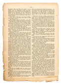 Grunge page of undefined antique book with german text — Stock Photo