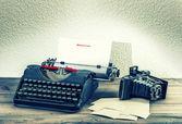 Vintage e máquina fotográfica. conceito de memórias — Fotografia Stock