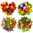 Flower bouquets for Birthday, Valentines Day — Stock Photo