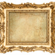 Golden frame with canvas for your picture, photo, image — Stock Photo #41321473