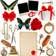 Stock Photo: Collection of various objects for scrapbook
