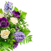 Spring Flowers. Ranunculus, Hyacinth, Roses — Stock Photo