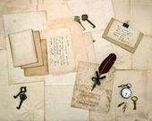 Vintage brieven en handgeschreven postkaarten — Stockfoto