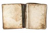 открытие антикварные книги с шероховатый страниц — Стоковое фото