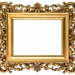 Vintage golden picture frame isolated on white — Stock Photo #42959231