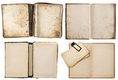 Old books set with grungy pages — Foto Stock