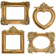 Old golden frame. antique object — Stock Photo #43502655