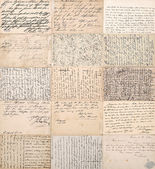 Antique postcards. old handwritten undefined texts — Stock Photo