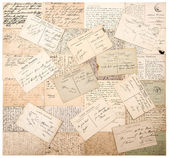 Vintage postcards. handwritten undefined texts — Stock Photo