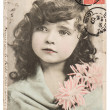 Vintage portrait of beautiful little girl — Stock Photo #43510107