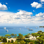 Luxury resort and bay of Villefranche. french riviera — Stock Photo