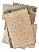Grungy paper sheet for musical notes and postcards — Stock Photo