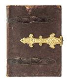 Capa de livro antigo com decoração dourada — Foto Stock