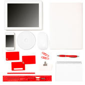 Set of office tools over white background — Stock Photo