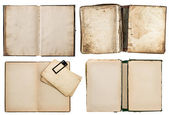 Old books set with grungy pages — Stockfoto