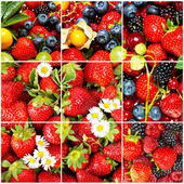 Mix of fruits and berries. healthy food concept — Stock Photo