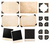 Scheda carta d'epoca con angolo, foto, foto istantanea, cartolina — Foto Stock