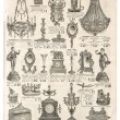 Antique victorian objects. retro shop advertising — Stock Photo #49315259