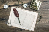 Retro office tools and writing accessories — Foto de Stock