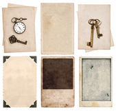 Vintage photo cards and old paper sheets — Foto de Stock