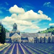 Senanque abbey with lavender field, landmark of Provence, Vauclu — Stock Photo #50325475