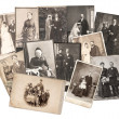 Vintage family and wedding photos. original old pictures — Stock Photo #50325777
