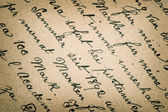 Old handwritten text in german language — Stock Photo