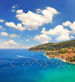 French riviera, Mediterranean Sea. Villefranche by Nice — Stock Photo
